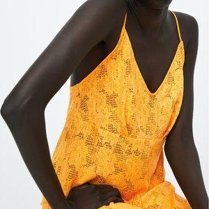 dd206795 Zara Dresses | Yellow Structured Lace Dress | Poshmark